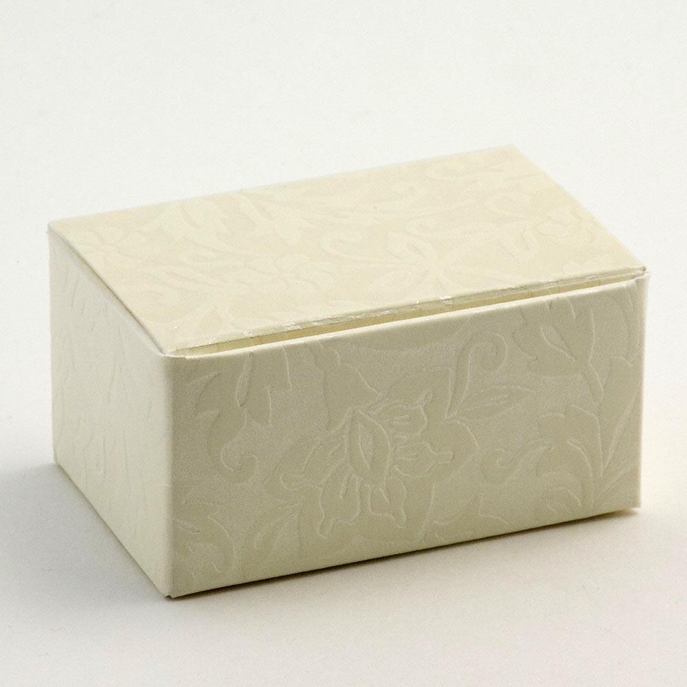 Ivory Diamante Rectangular Favour Box