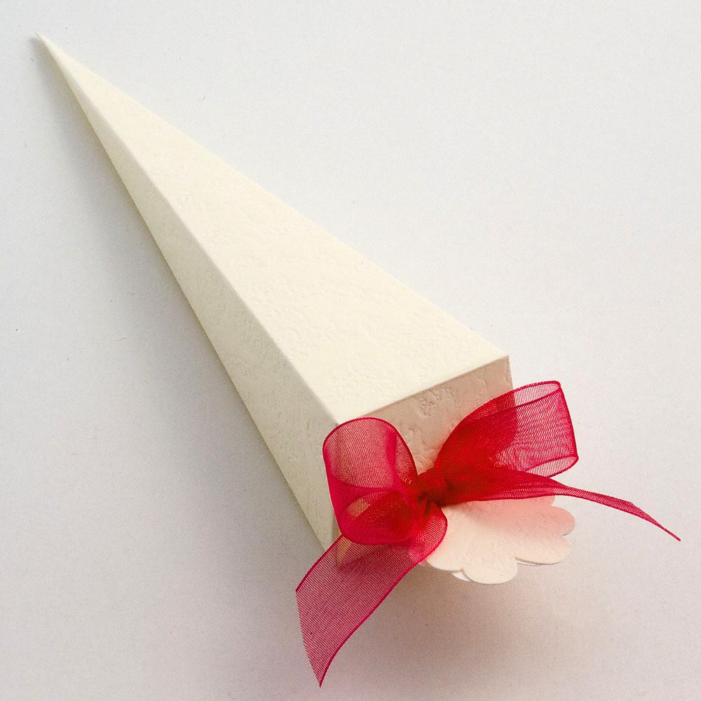 Ivory Sorgente Cone Favour Box