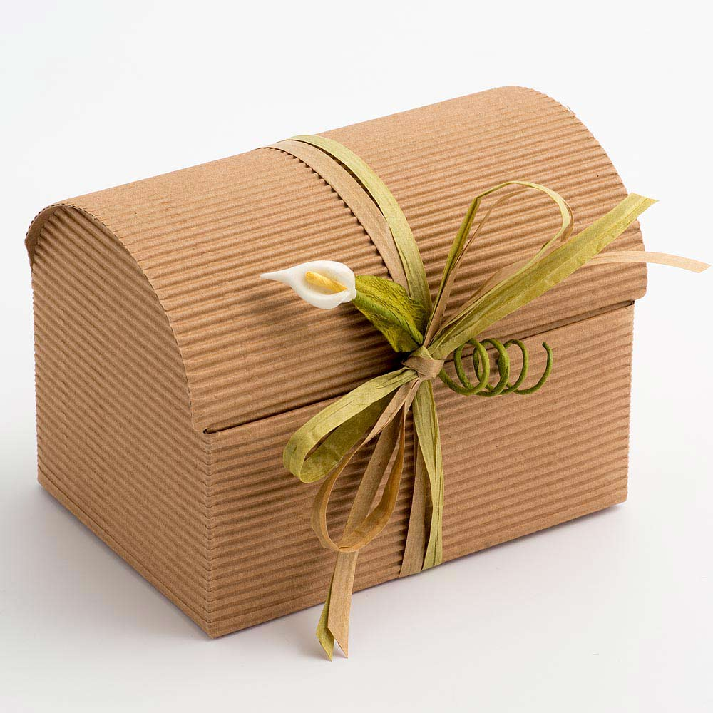 Kraft Corrugated Trunk Favour Box - Medium