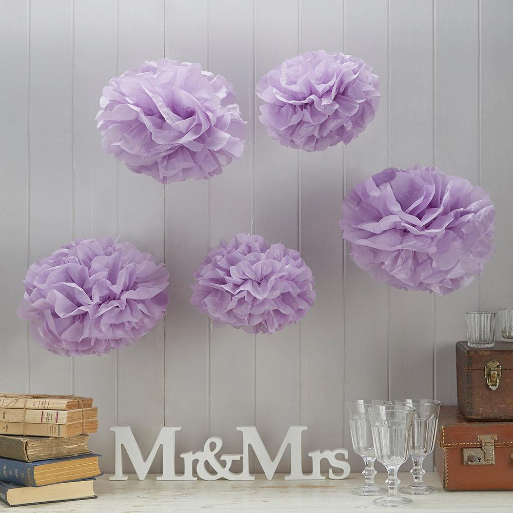 Lilac Pom Pom Set