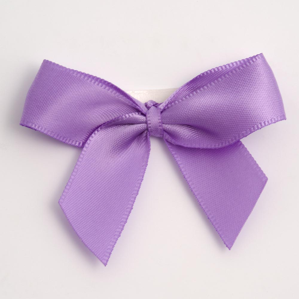 Lilac Satin Bows 12 Pack