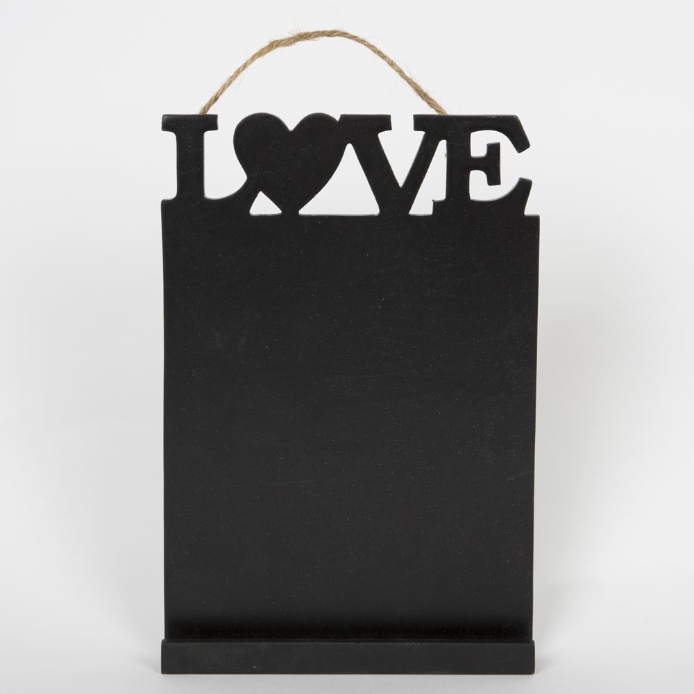 Love Rectangular Hanging Chalkboard