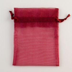 Medium Burgundy Organza Favour Bag