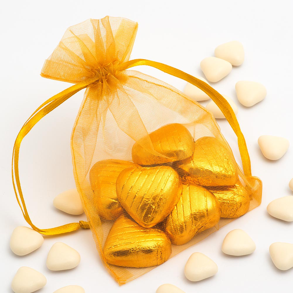 Medium Gold Organza Favour Bag