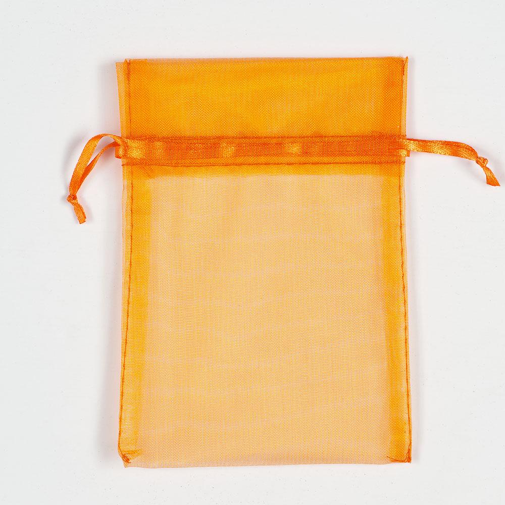 Medium Orange Organza Favour Bag