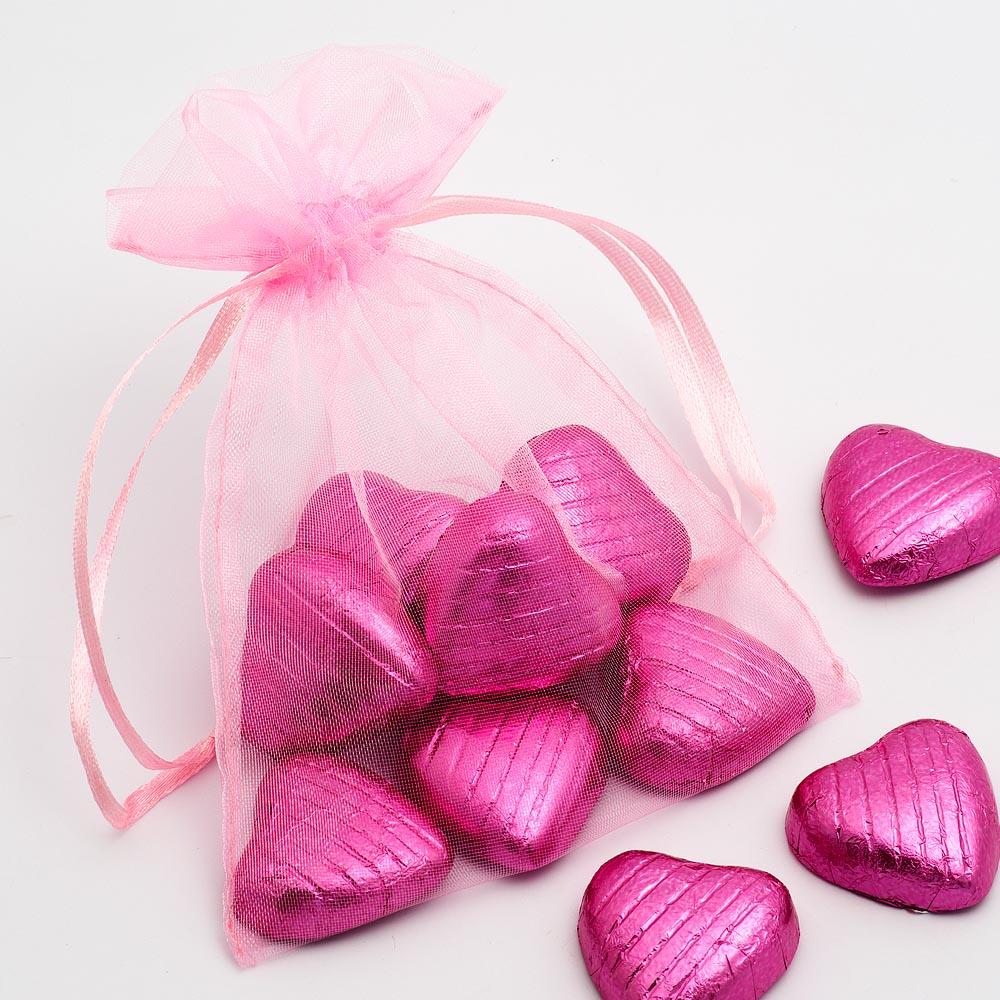 Medium Pink Organza Favour Bag