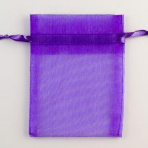 Medium Purple Organza Favour Bag