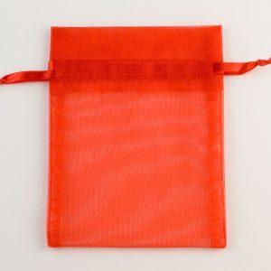 Medium Red Organza Favour Bag
