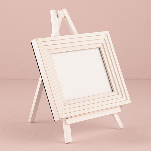 Medium White Wooden Easels