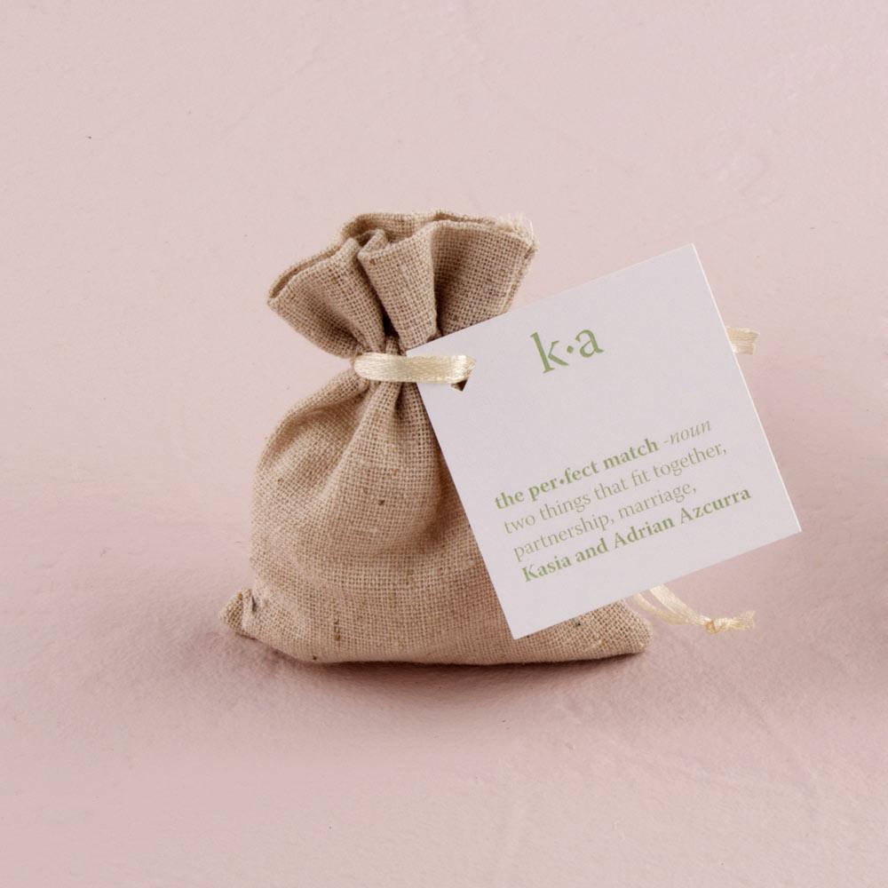 Mini Linen Drawstring Bags x 12