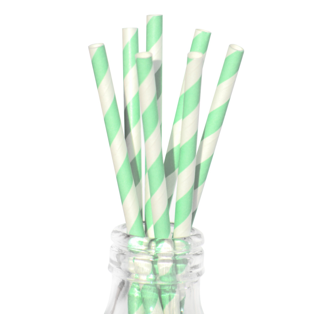 Mint Green Paper Straws