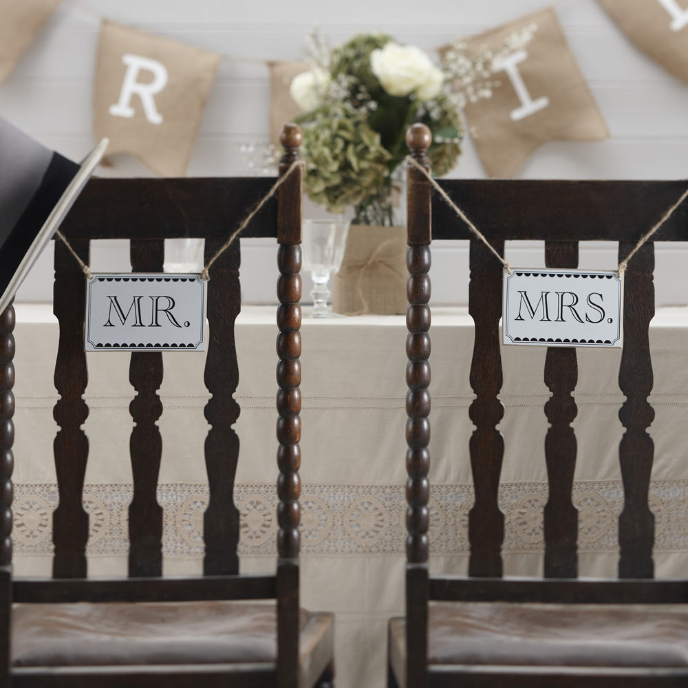Mr & Mrs Hanging Signs