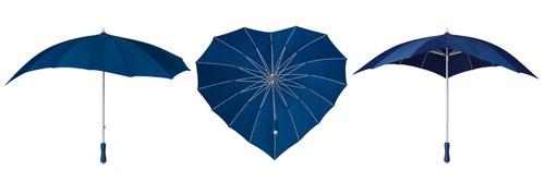Heart Umbrellas - Navy Blue