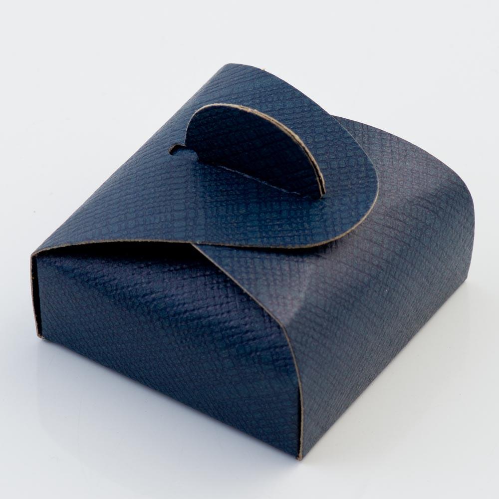 Navy Silk Mini Astuccio Favour Box