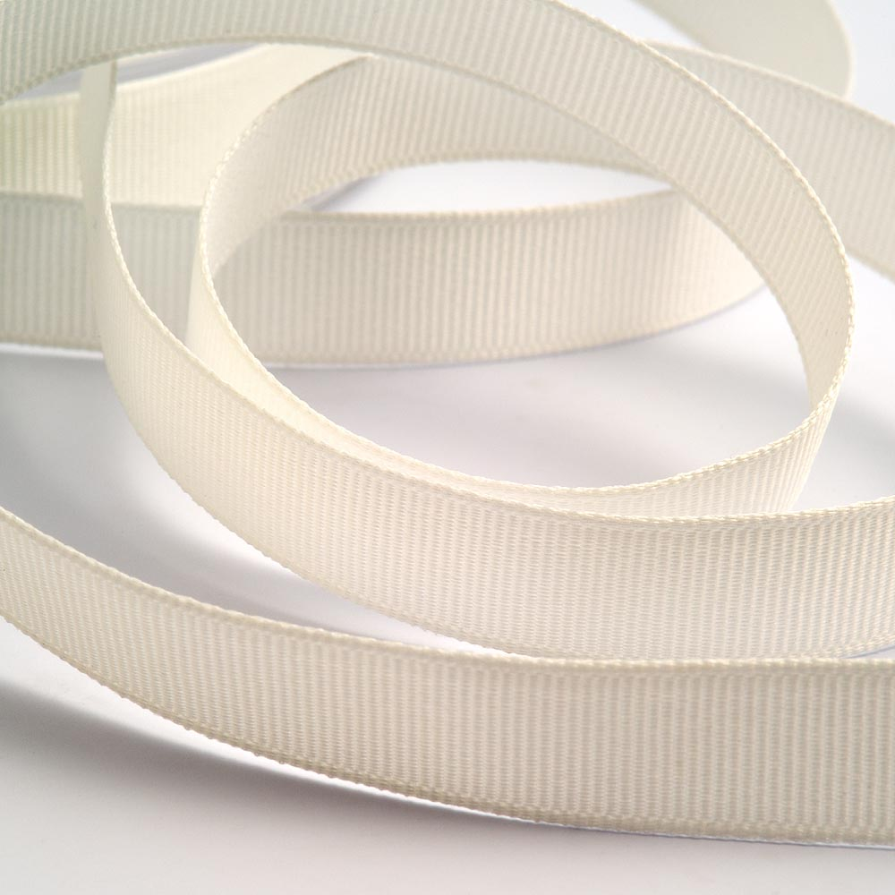 Off White Grosgrain Ribbon 13mm x 20m