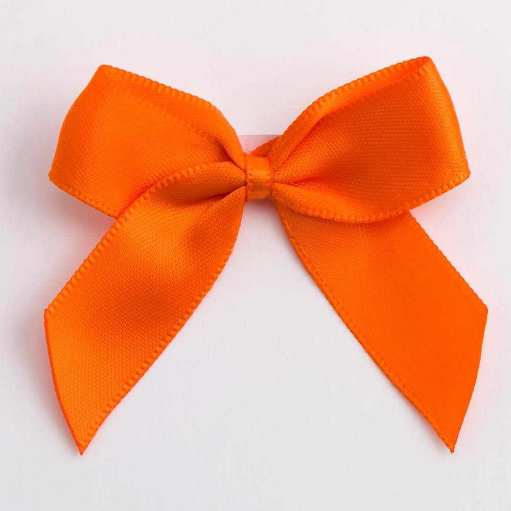Orange Satin Bows 12 Pack