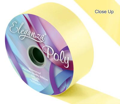 Pale Yellow Wedding Car Ribbon