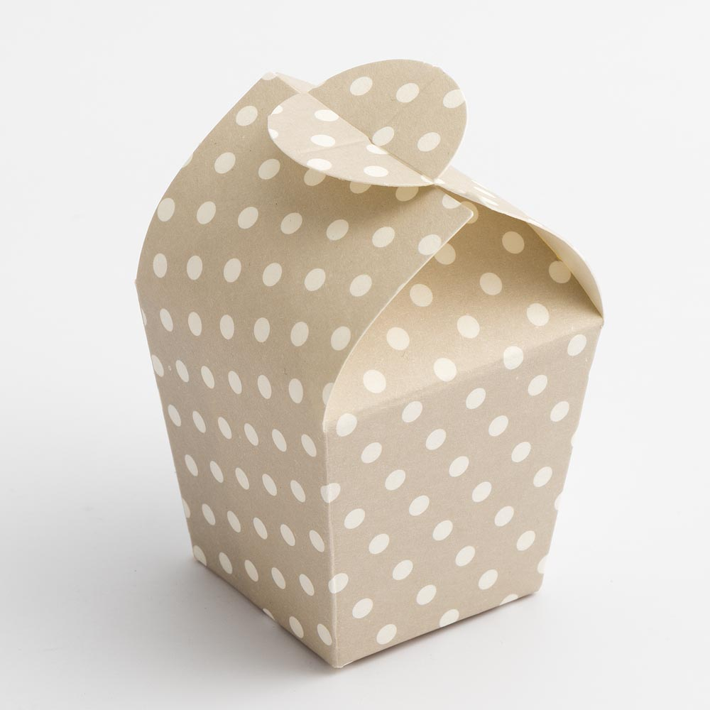 Pearl Grey Polka Dot Mini Favour Box