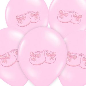 Pink Bootee Baby Shower Balloons