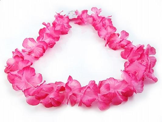 Pink Hawaiian Lei Necklace