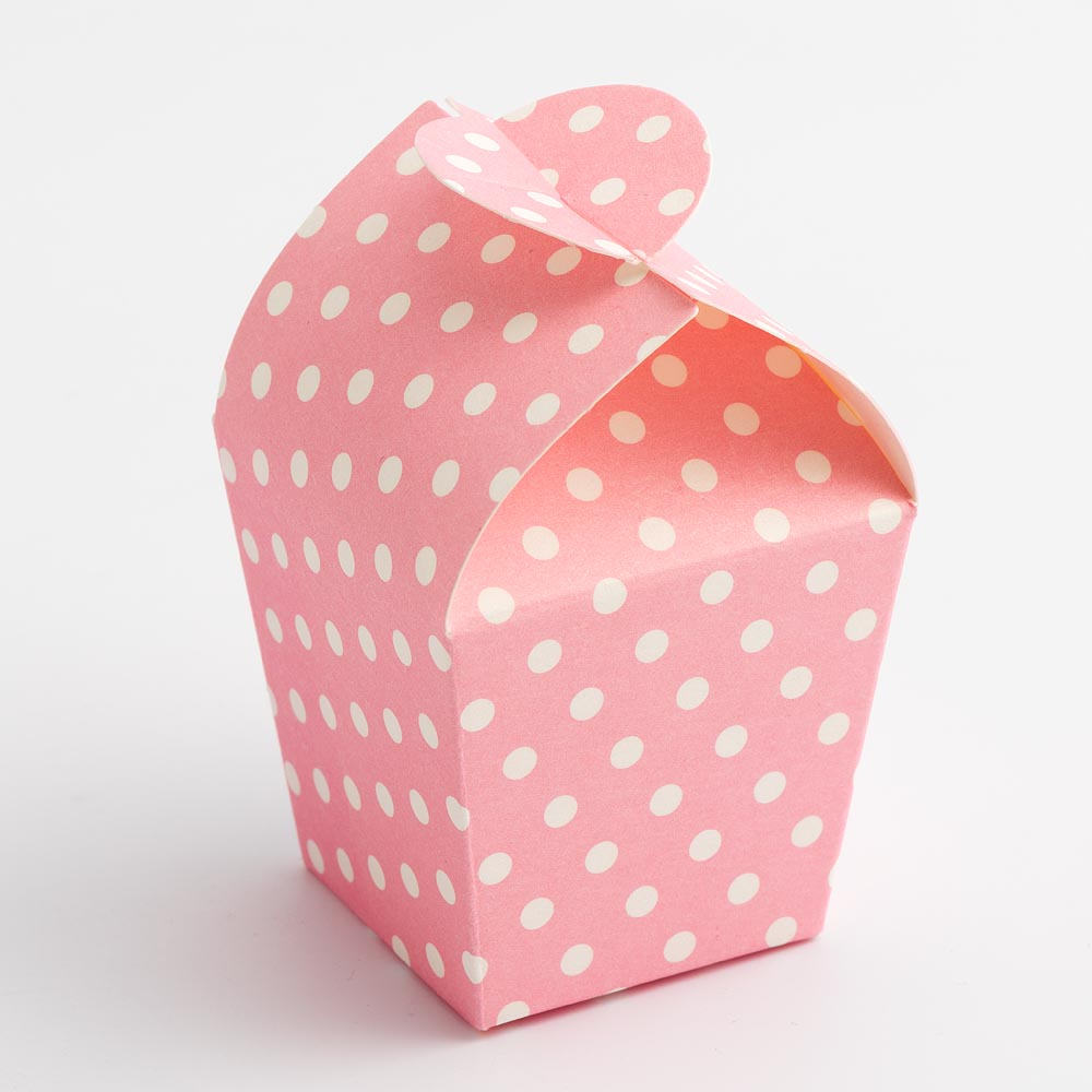 Pink Polka Dot Mini Favour Box