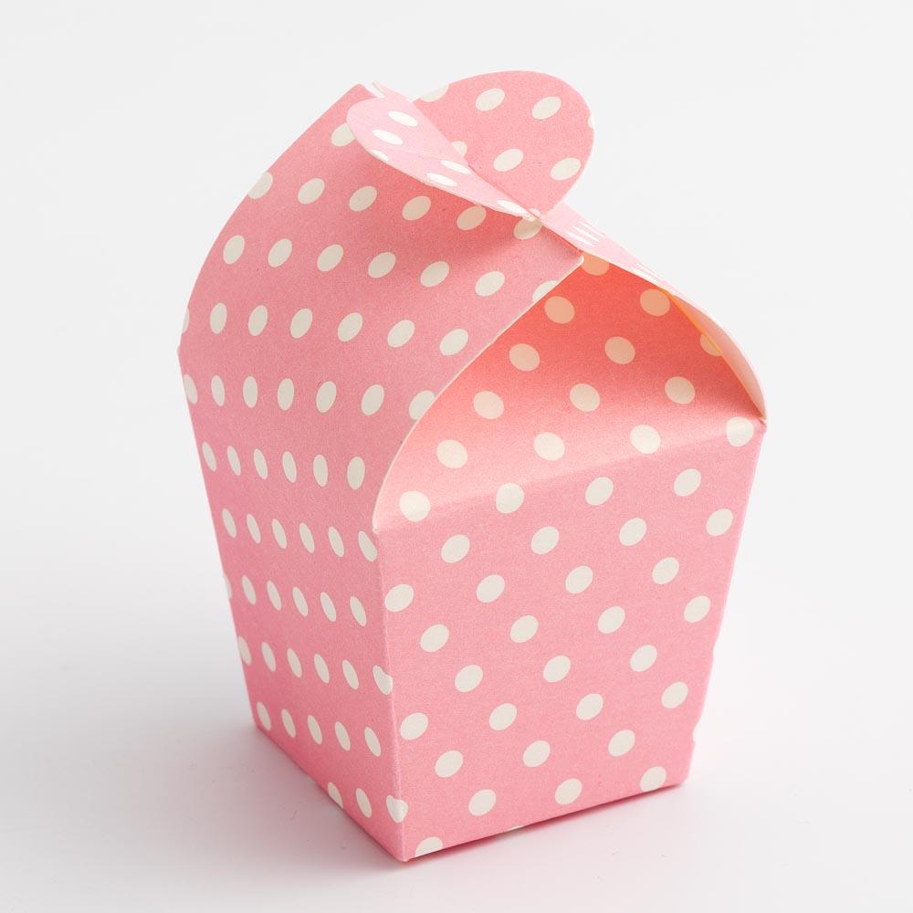 Pink Polka Dot Mini Favour Box
