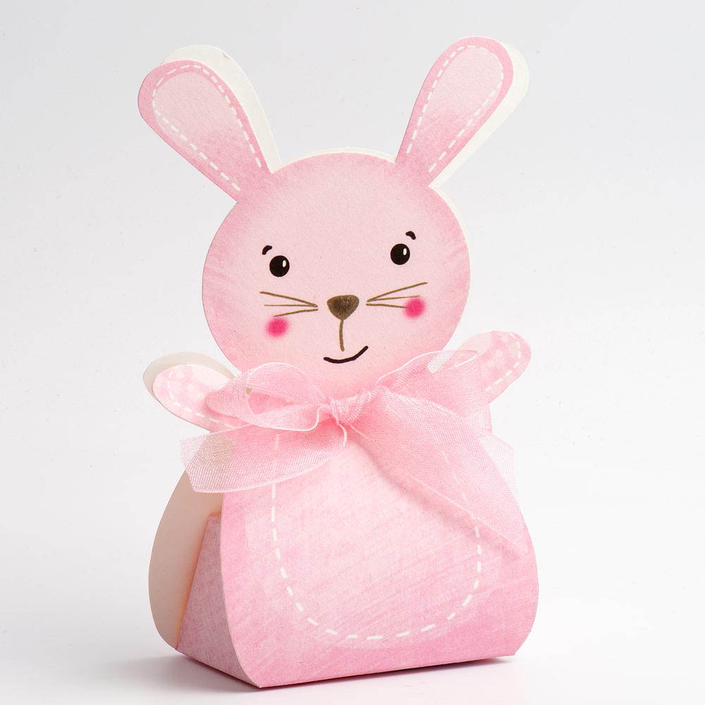 Pink Rabbit Favour Box - Large