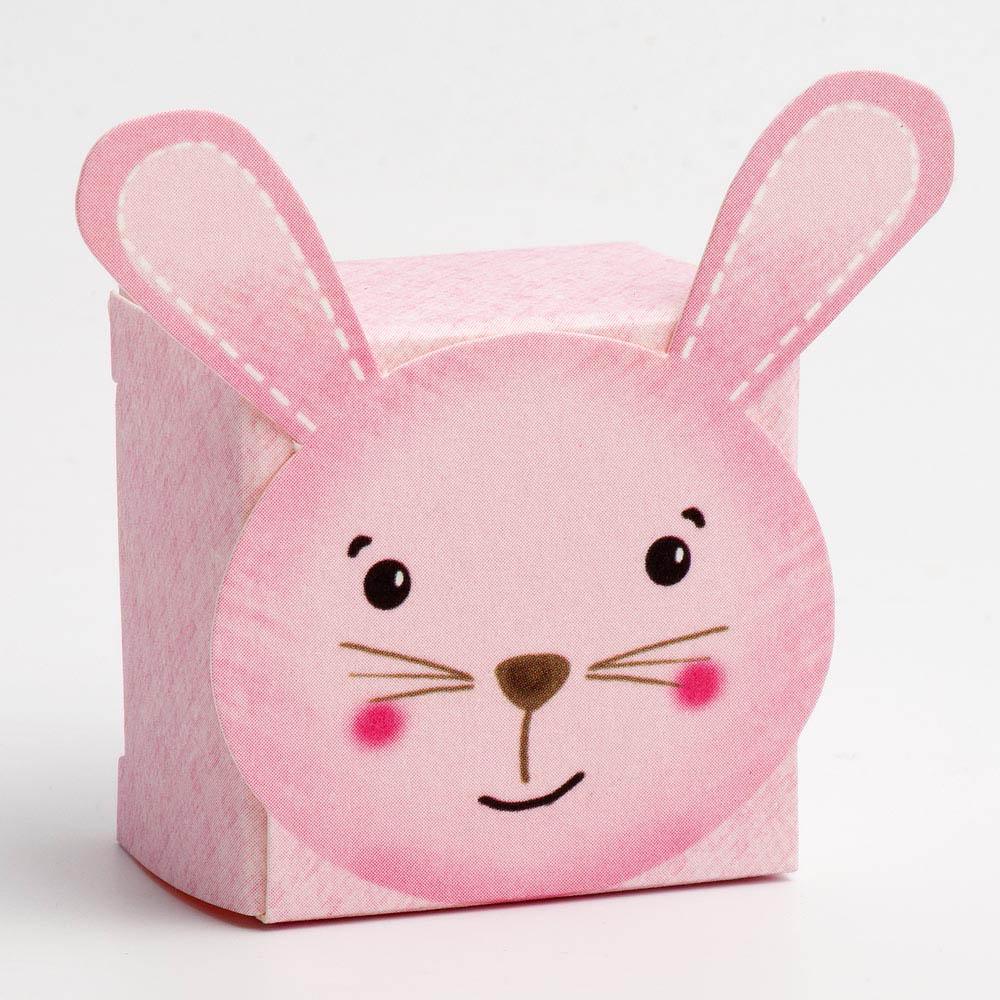 Pink Rabbit Favour Box - Small