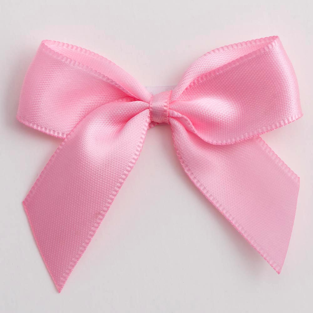 Pink Satin Bows 12 Pack