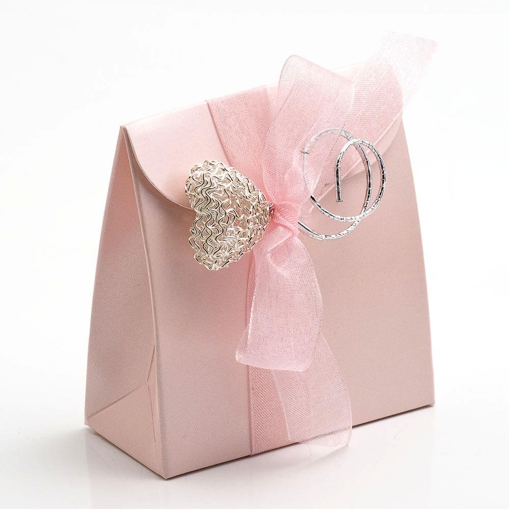 Pink Satin Sacchetto Favour Box