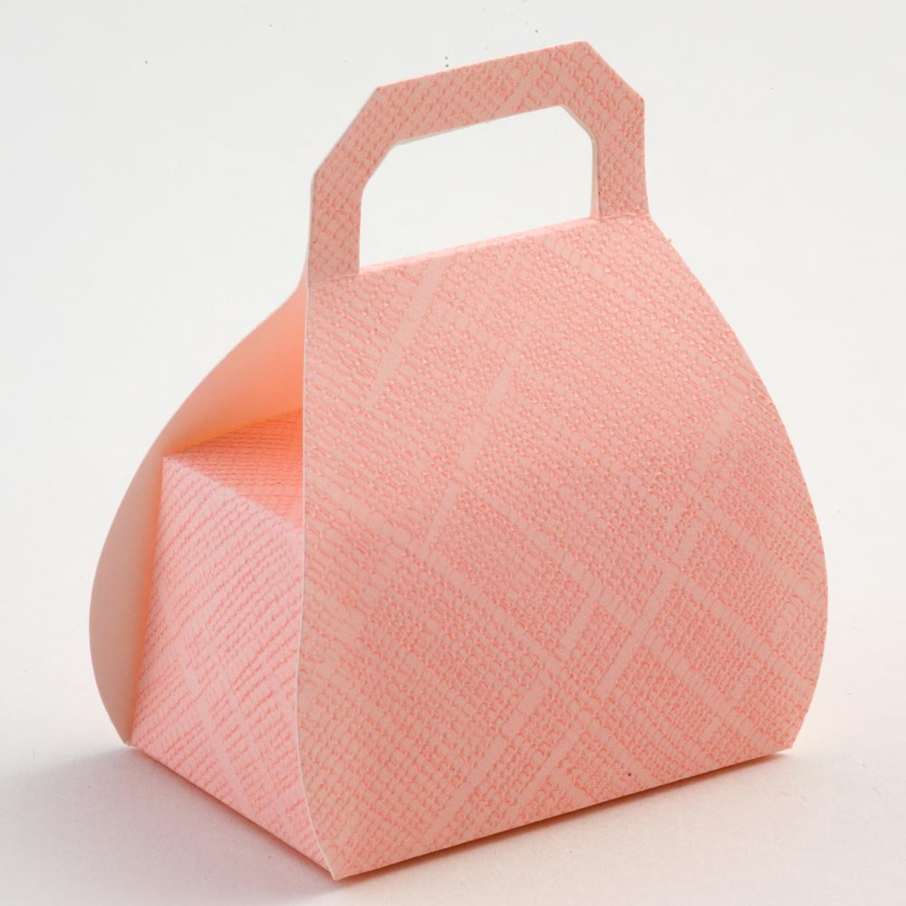 Pink Silk Handbag Favour Box