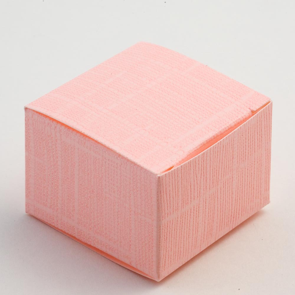 Pink Silk Square Favour Box