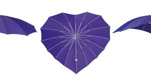 Heart Umbrellas - Purple