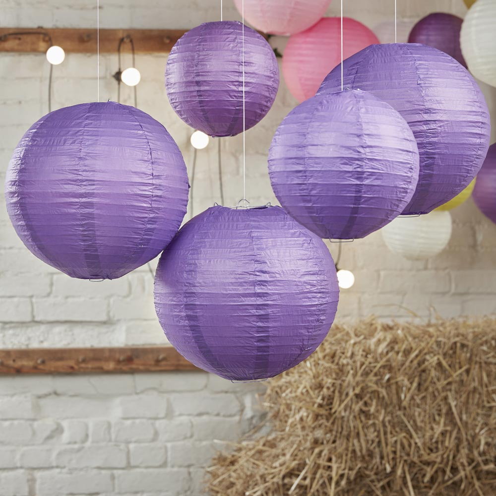 Purple Paper Lantern Decorations