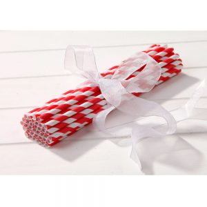 Red & White Striped Straws
