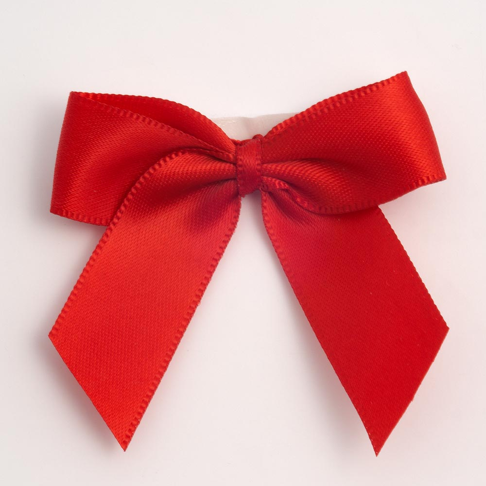 Red Satin Bows 12 Pack