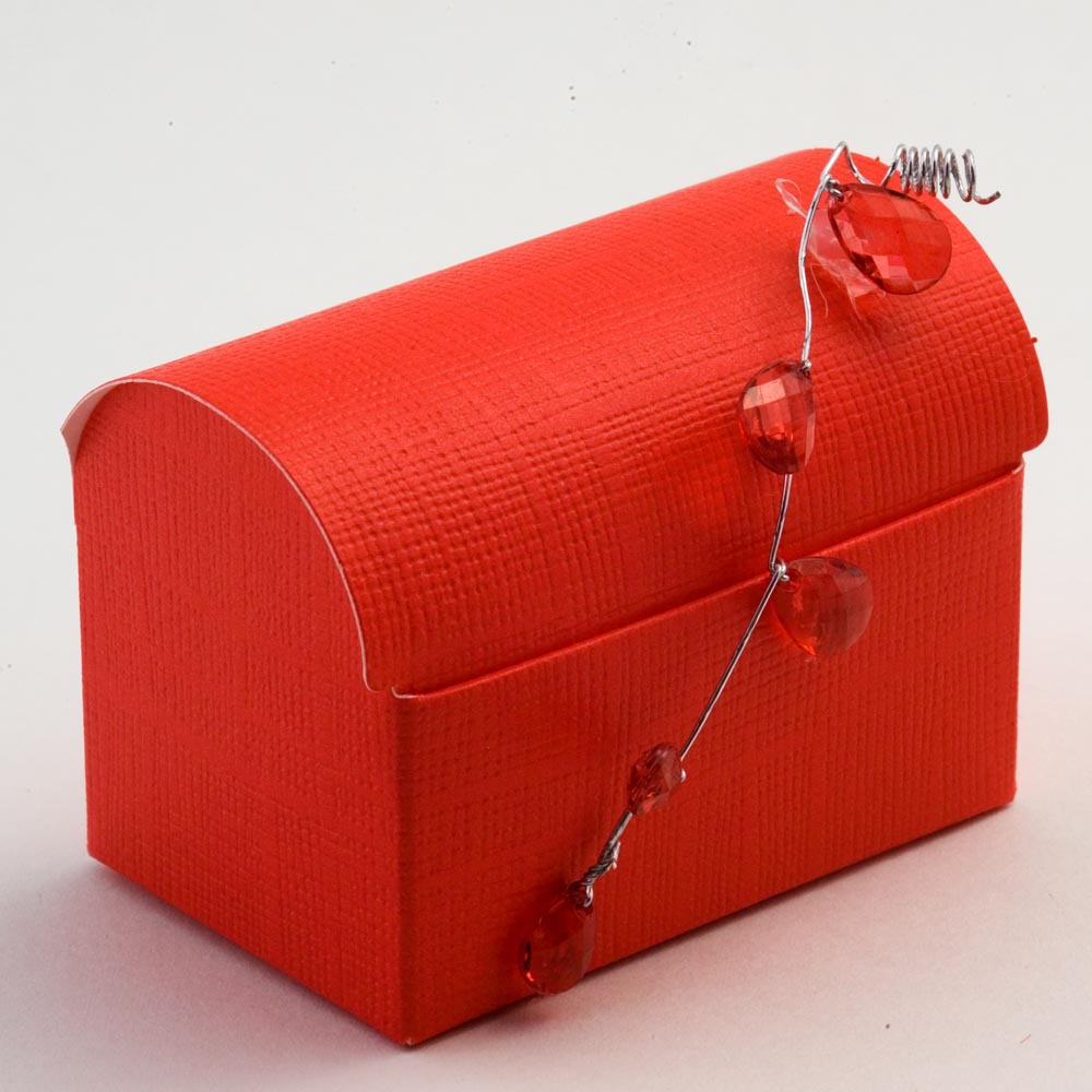 Red Silk Cofanetto Favour Box