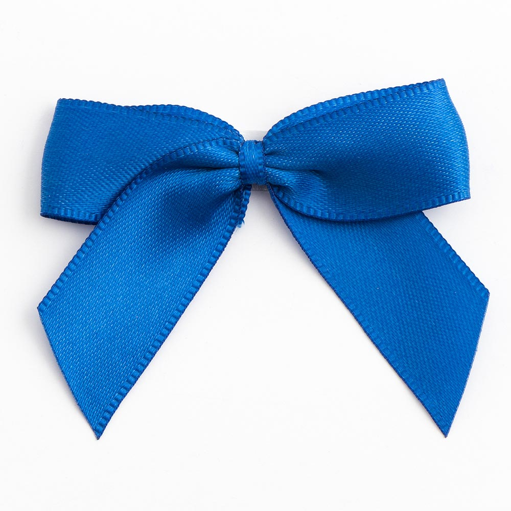 Royal Blue Satin Bows 12 Pack