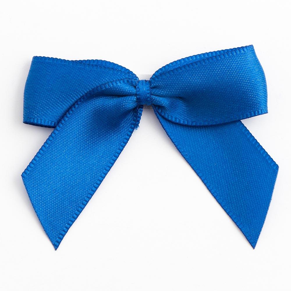 Royal Blue Satin Bows 12 Pack