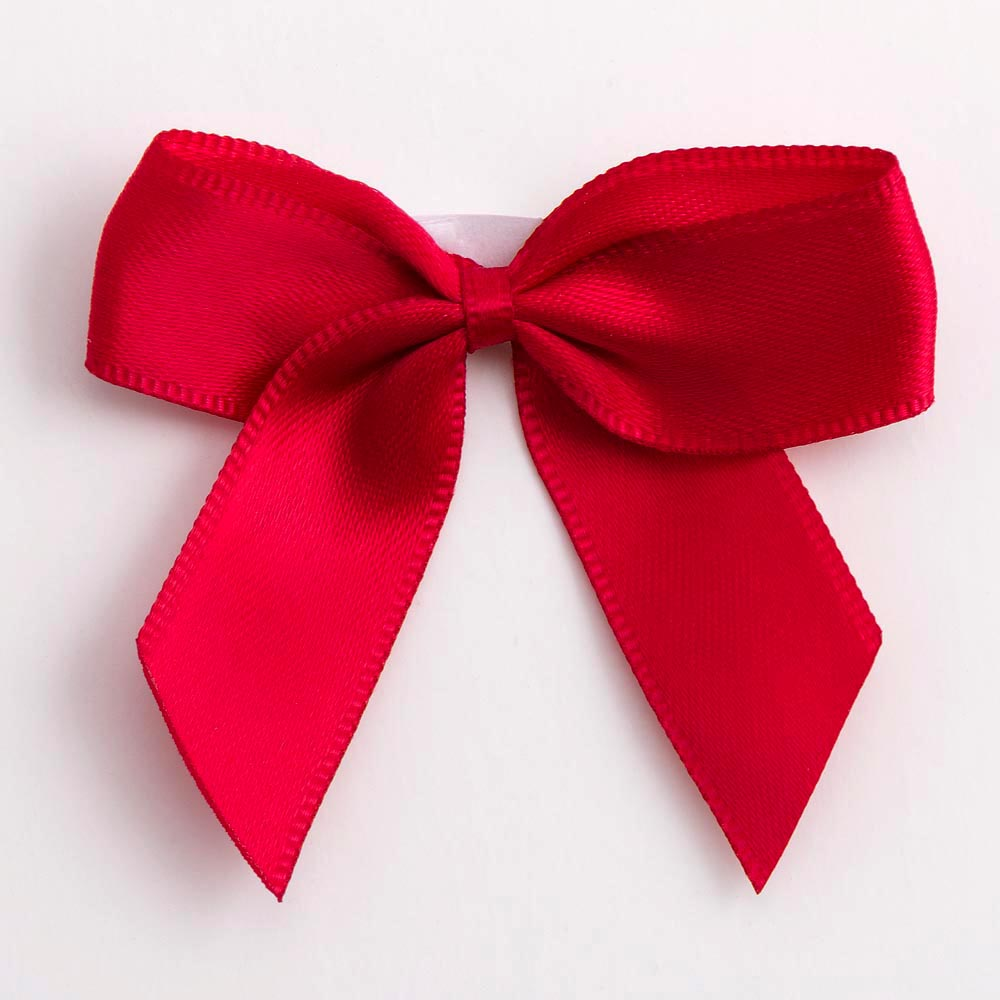 Ruby Satin Bows 12 Pack