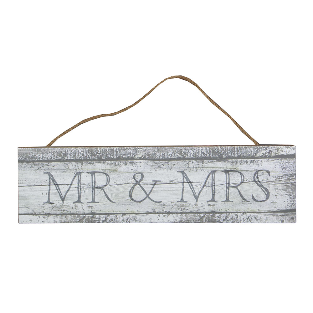 Rustic Mr & Mrs Wedding Sign