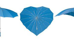 Heart Umbrellas - Sky Blue