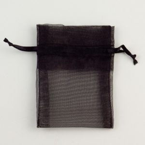 Small Black Organza Favour Bag