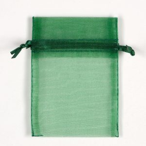 Small Bottle Green Organza Favour Bag