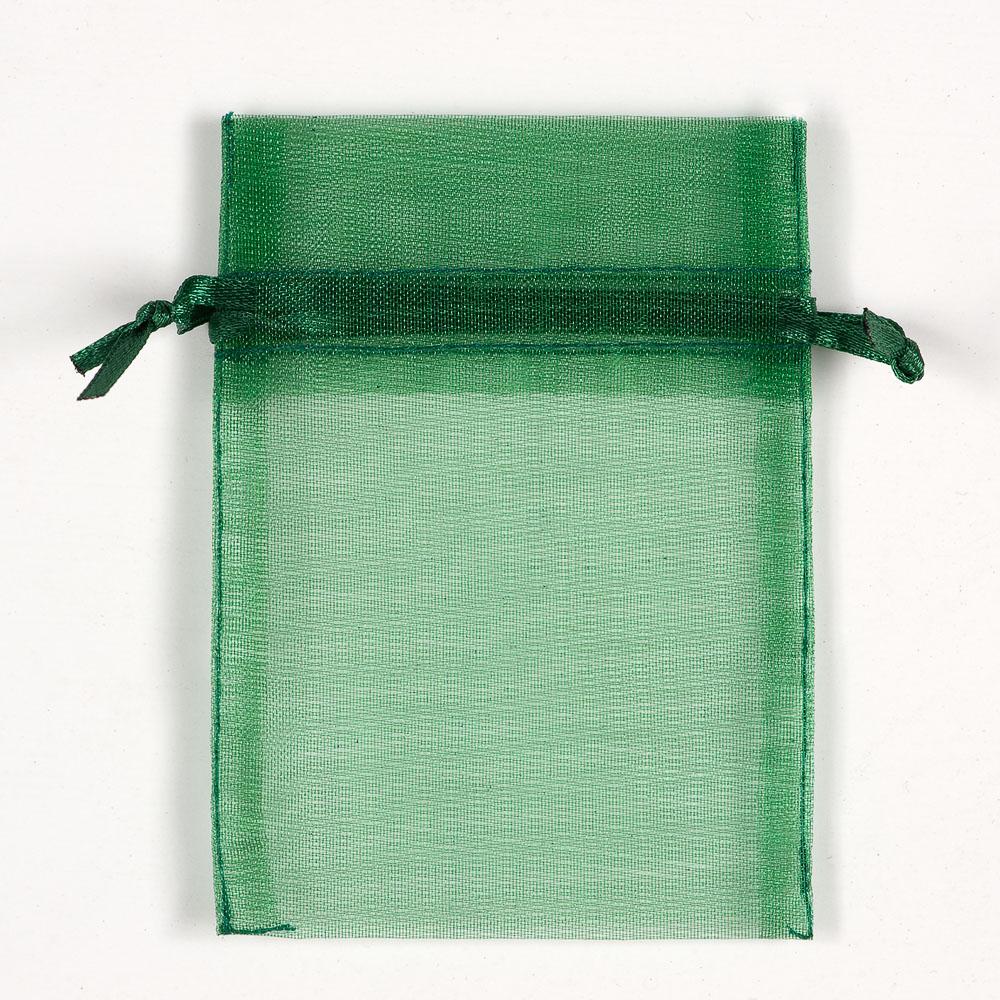 Small Bottle Green Organza Favour Bag
