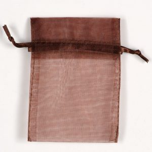 Small Brown Organza Favour Bag