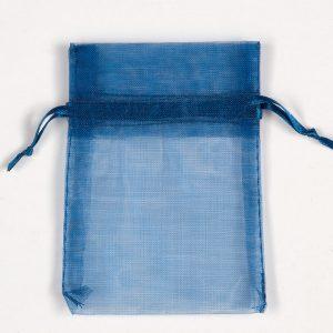 Small Dark Blue Organza Favour Bag