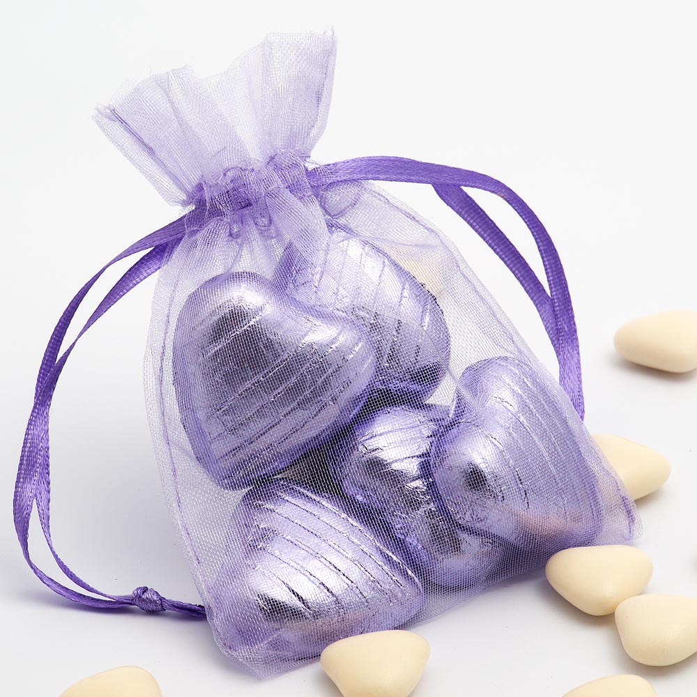 Small Lilac Organza Favour Bag