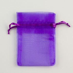 Small Purple Organza Favour Bag