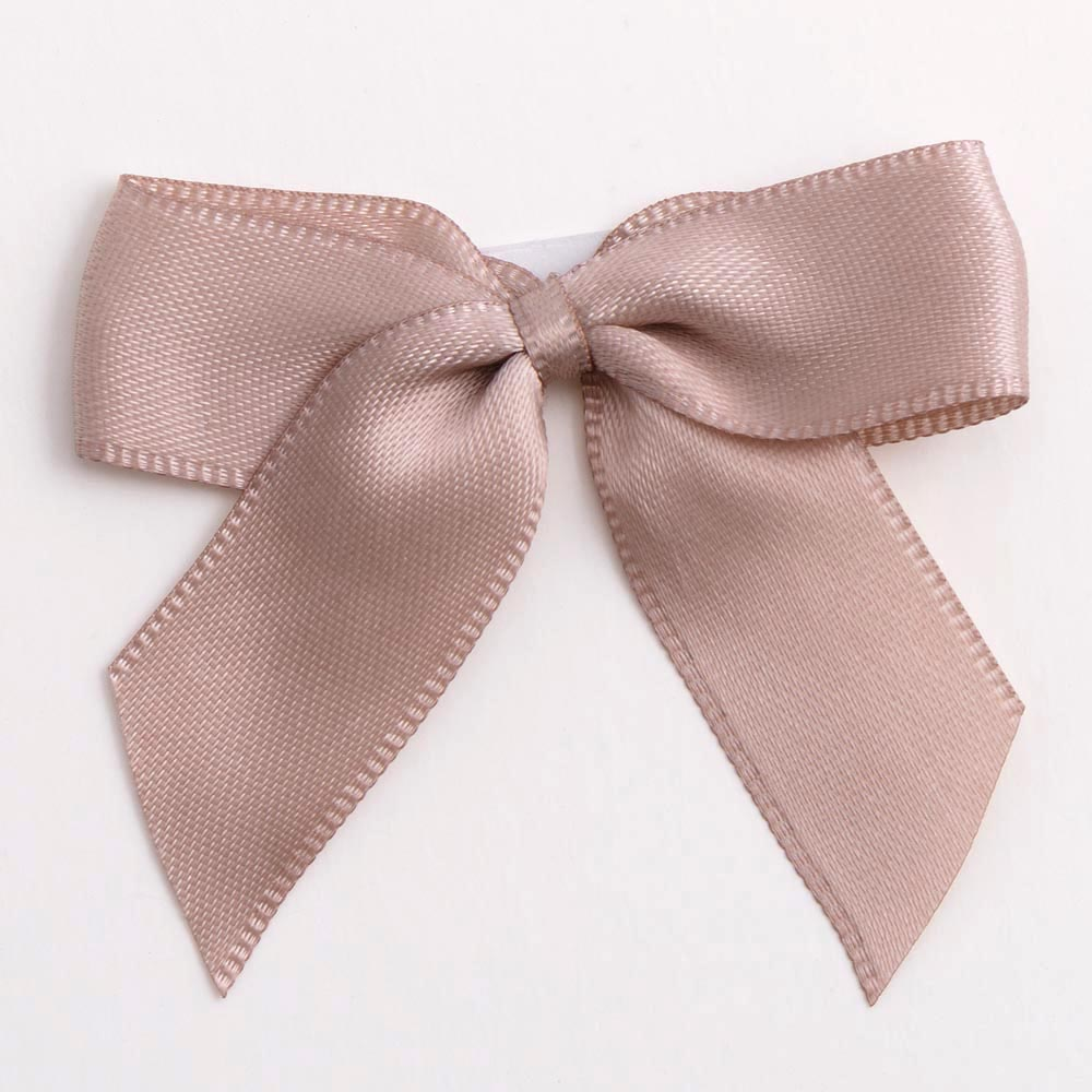 Taupe Satin Bows 12 Pack